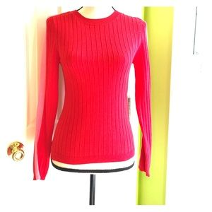 Forever 21 Red Soft Crew Neck Sweater